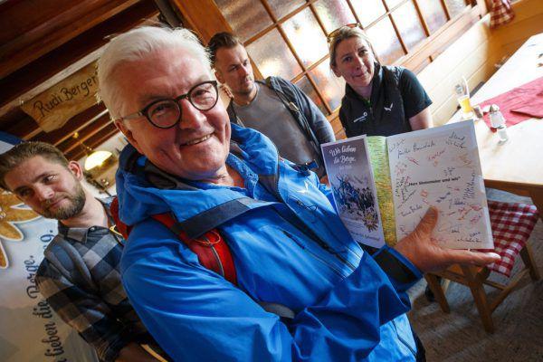 Der deutsche Bundespräsident Frank-Walter Steinmeier ist selbst Alpenvereinsmitglied.DAV/Marco Kost