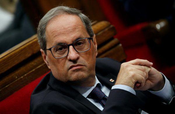 Der katalanische Regionalpräsident Quim Torra verurteilt die Unruhen. Reuters