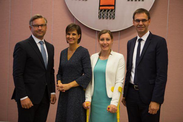Die bisherigen ÖVP-Bundesräte Magnus Brunner und Martina Ess.NEUE/Archiv