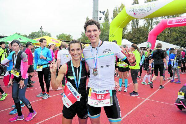 Die Sieger Sandra Urach und Patrik Wägeli.Dedeleit, Steurer (5)