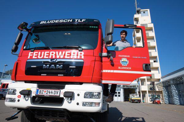 Feuerwehr Bludenz rückte aus.Hartinger