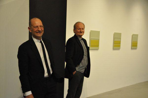Kleines Bild unten: Guido Kucsko (l.) und Manfred Makra im Bildraum.Wolfgang Ölz (3)