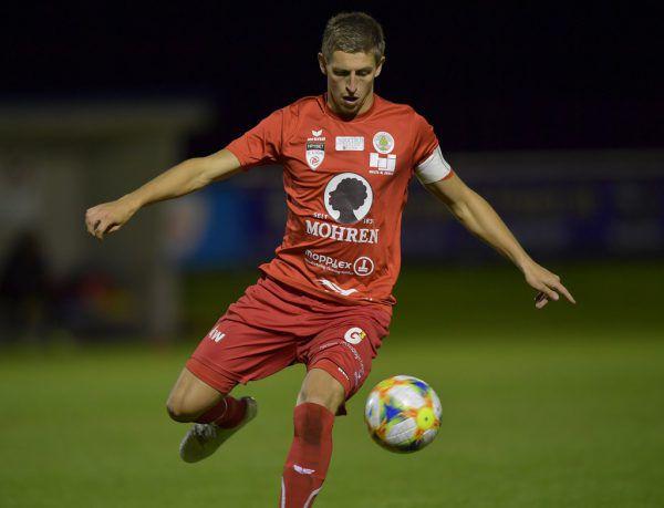 Marc Kühne führte den FC Dornbirn in Abwesenheit von Aaron Kircher als Kapitän aufs Feld.Gepa