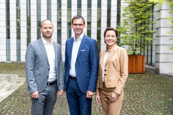 Marco Tittler (l.), und Martina Rüscher sind die Neuen im Team von Markus Wallner.Mauche