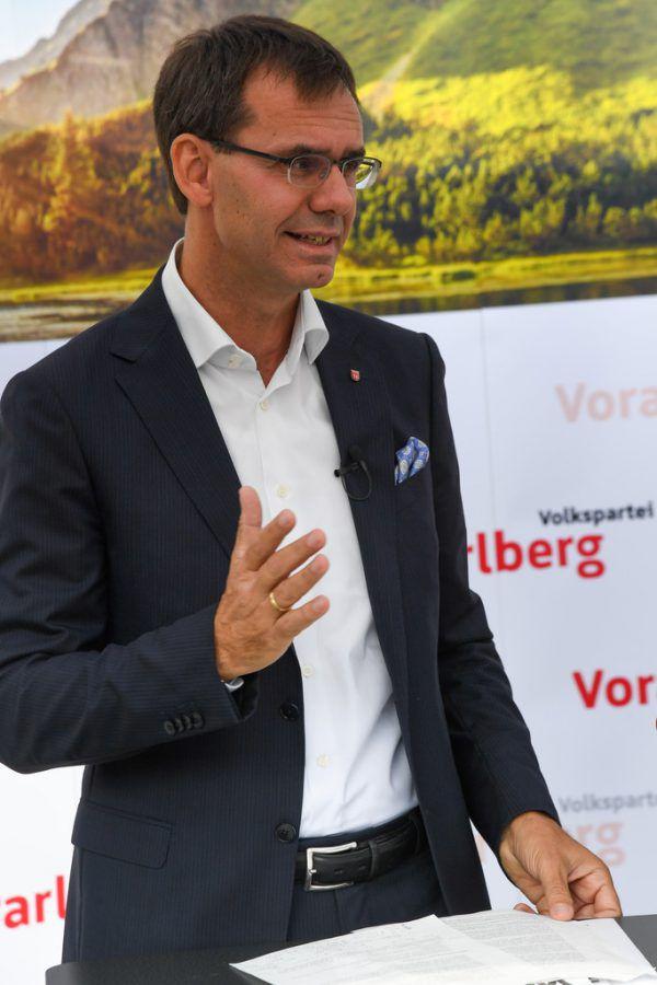 Markus Wallner informiert über eine Anschubförderung.Oliver Lerch
