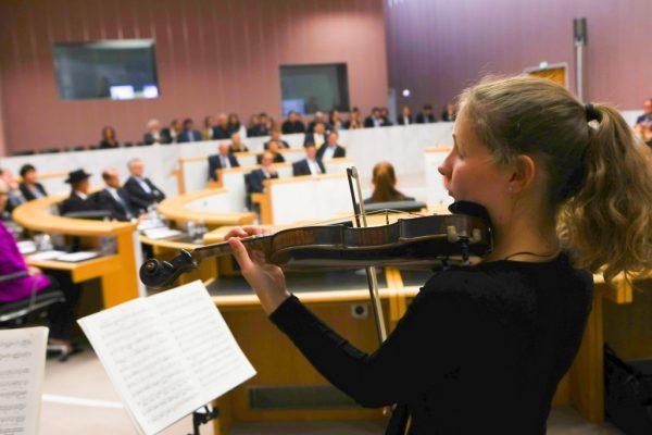 Mit einer Festsitzung wurde die Landtagsperiode abgeschlossen.Hartinger (2)