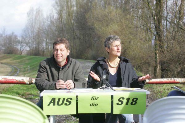 """Schon 2006 haben die Grünen das """"Aus für die S 18"""" propagiert. Neue-Archiv/Hofmeister"""