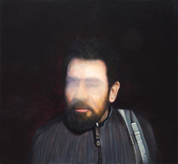 """Werke von Ingmar Alge in Bludenz. Das große Bild zeigt einen Ausschnitt aus """"Konferenz"""". Kleine Bilder: """"Protest"""", sowie """"Porträt Nr. 10"""".Ingmar Alge (3)"""