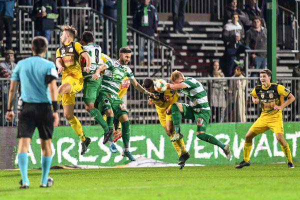 Allzu viel los war in den vergangenen Spielen im Strafraum der Austria. Mit 27 Gegentreffern stellt die Mählich-Elf eine der schwächsten Defensiven der Liga.Gepa/Lerch