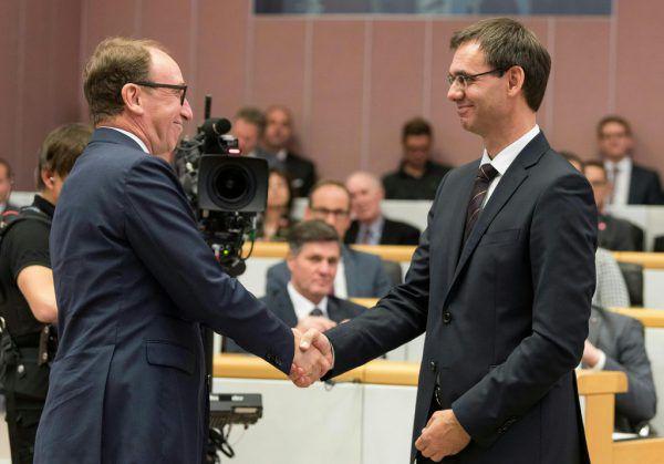 Grünen-Chef Johannes Rauch (l.) und ÖVP-Chef Markus Wallner machen sich Gedanken über die Zeit nach Corona.APA