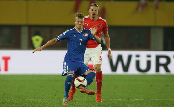Büchel im Trikot des Liechtensteiner Nationalteams.Gepa
