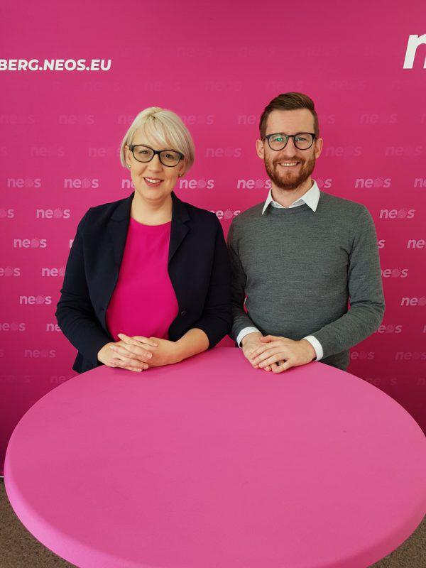 Sabine Scheffknecht und Johannes Gasser. Neos