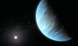 Wasserdampf auf fernem Planeten