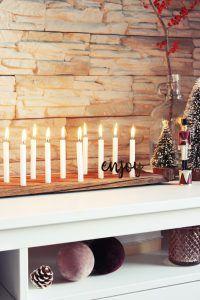 Für die perfekte Stimmung: Schnell gemachtes Kerzenbrett