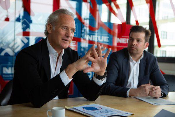 IV-Präsident Martin Ohneberg (l.) und der scheidende Geschäftsführer Mathias Burtscher.