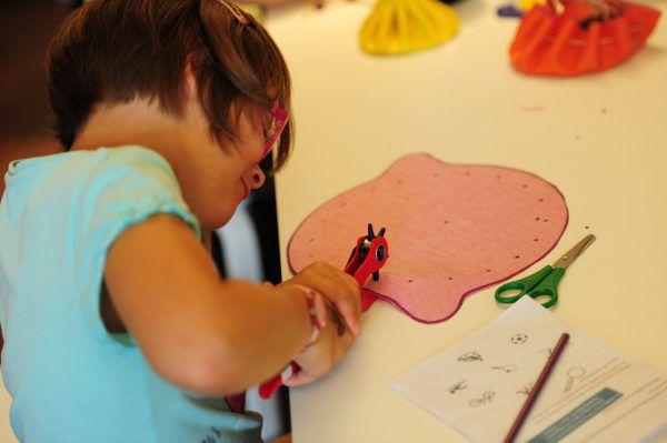 Die Kinder können auch selbst kreativ werden. VLK/A. Serra