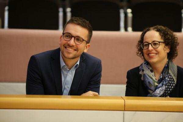 Ersatzmitglied Christian Zoll und Bundesrätin Christine Schwarz-Fuchs. Klaus Hartinger