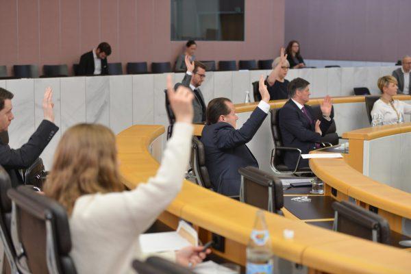 Am 3. April wurden die Covid-Sonderbestimmungen erstmals beschlossen.Vorarlberger Landtag/Serra