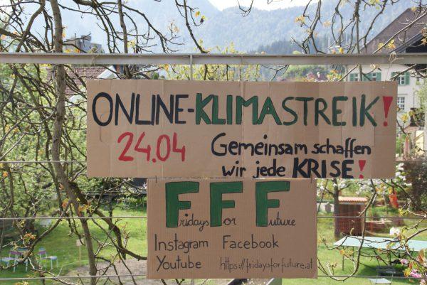 Im Internet gab es anlässlich des Streiks einen zweistündigen Stream.apa/FFF Austria