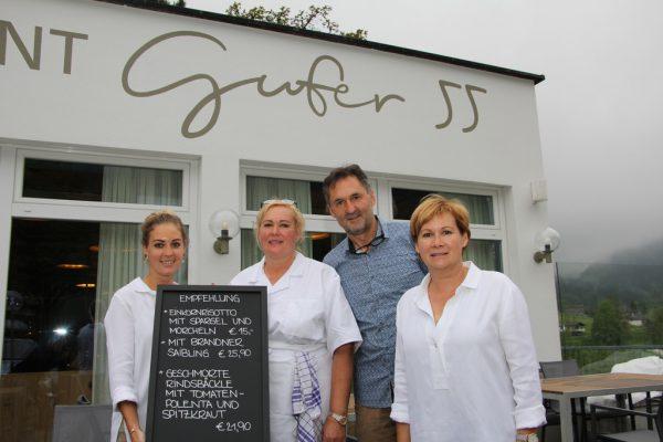 Das Gufer55-Team mit Annalena, Andrea, Thomas und Burgi (v.l.).Lutz (7)