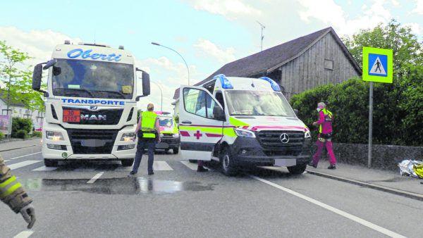 Der Unfall ereignete sich auf der Reichsstraße (L 203). Shourot