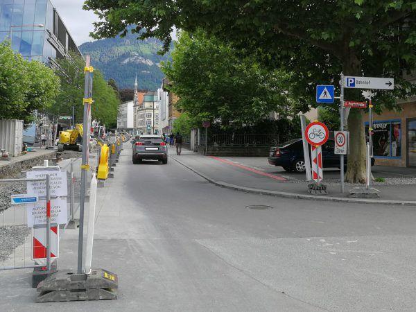 Baustelle vom Bahnhof in Richtung Innenstadt.privat