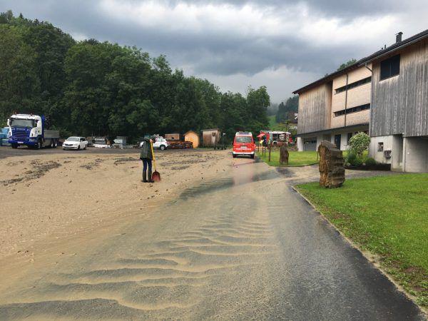 Blitzschlag und Überschwemmungen im Bregenzerwald.Mirjam Mayer/VOL.at