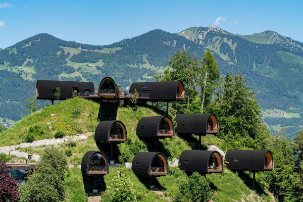 Die Himmelschalets sind das Highlight des Resorts und nicht nur architektonisch bemerkenswert.