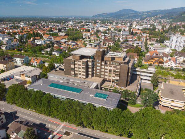 Das Dornbirner Stadtspital.Hartinger