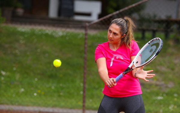 Tamira Paszek trainierte in den vergangenen Wochen auf der Anlage des TC Dornbirn.Klaus Hartinger