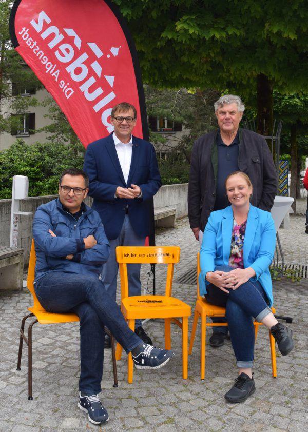 V.l.: Stefan Kirisits, Christoph Thoma, Mandi Katzenmayer und Wiebke Meyer. Stadt Bludenz