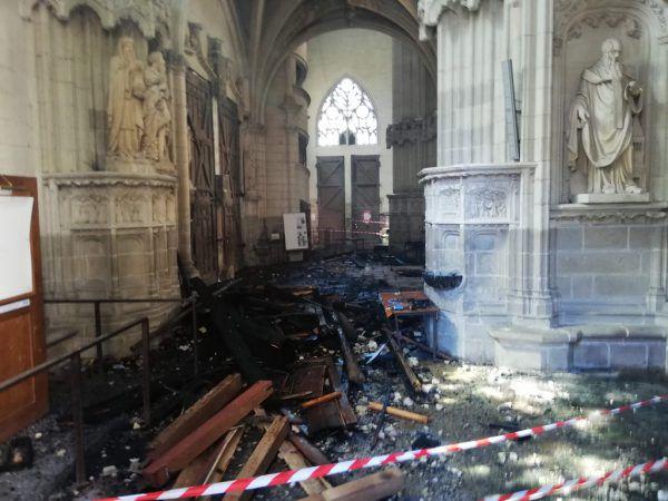 Bei dem Feuer ist hoher Sachschaden entstanden.AFP