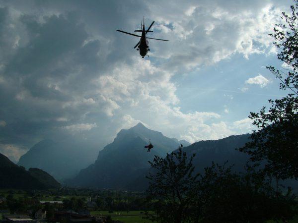 Bergung per Hubschrauber.Symbolbild/Steinlechner