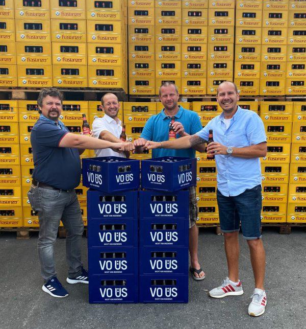 Christian Gross, Kurt Michelini, Michael Lampert und Oliver Müller (v.l.n.r.).Brauerei Frastanz