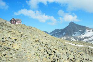 """<p class=""""caption"""">Die Mannheimer Hütte, die auf 2679 Metern ist.</p><p class=""""caption"""">Mannheimer Hütte/Thurnher</p>"""