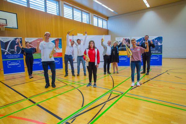 Die Sportler des Jahres wurden in kleinem Rahmen von Sportlandesrätin Martina Rüscher (ganz links) und Landeshauptmann Markus Wallner (ganz rechts) geehrt. steurer