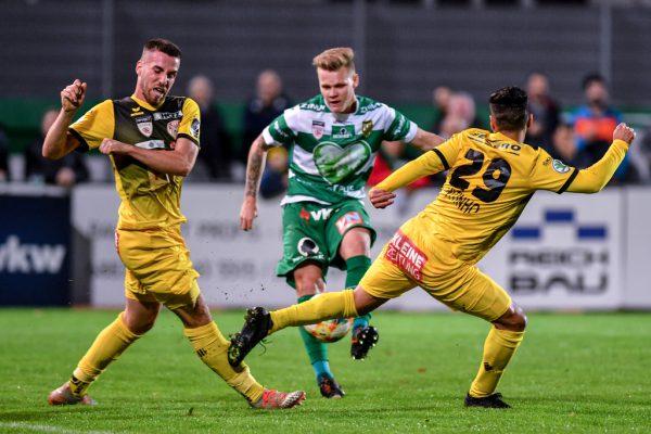 In der Hinrunde drehte Austria Lustenau einen 0:2-Rückstand in einen 3:2-Sieg.Gepa/Lerch
