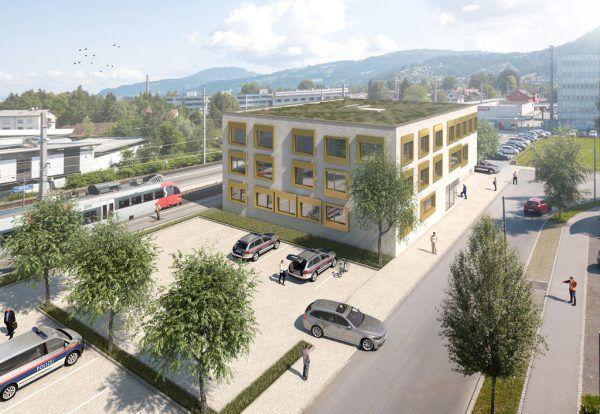 So wird die neue Zentrale der Polizei in Dornbirn aussehen.Stadt Dornbirn
