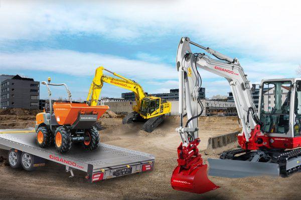 6000 Baumaschinen stehen österreichweit auf der Online-Plattform zur Verfügung.Didango