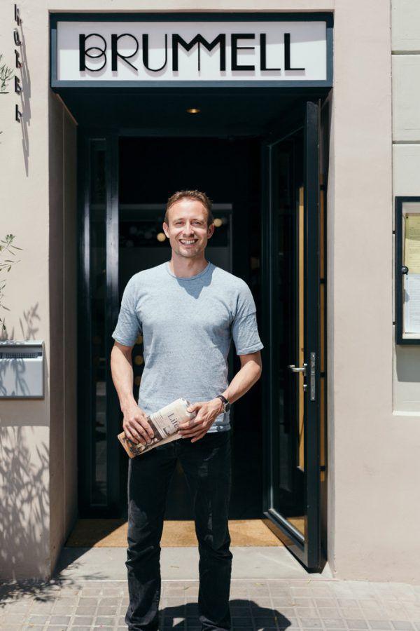Christian Schallert vor seinem Hotel Brummell.Christian Stark