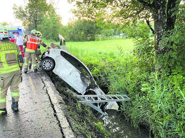 Der Unfall ereignete sich auf der Hofsteigstraße in Lustenau.Vol.At