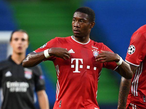 Die Bayern-Offensive (l.) war auch für Lyon nicht zu stoppen. Hinten ist Alaba der Chef (oben).Reuters (2)