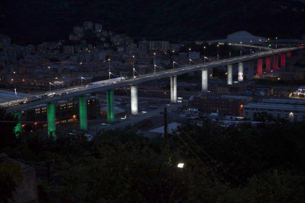 Die neue San-Giorgio-Brücke.AP