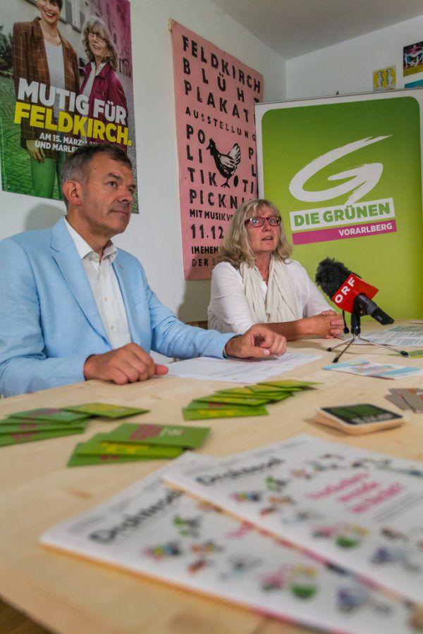 Ein Bürgermeister und eine Kandidatin: Georg Willi (Innsbruck) und Marlene Thalhammer.hartinger