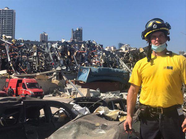 Markus Stengele war fünf Tage lang in Beirut im Einsatz.@fire/Stengele