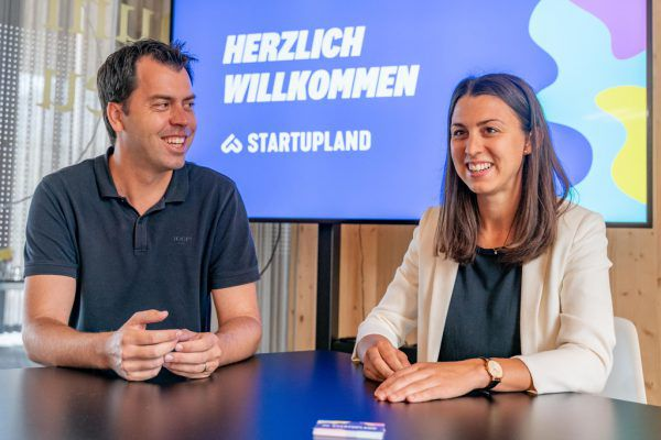 Thomas Gabriel und Julia Grahammer von der Initiative Startup-land. Stiplovsek (3)