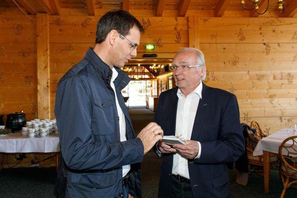 2018 feierte Guntram Lins seinen 80. Geburtstag. Landeshauptmann Markus Wallner überbrachte die Glückwünsche des Landes.VLK