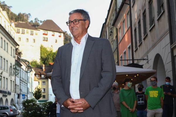 Bürgermeister Wolfgang Matt muss in die Stichwahl. Die Grünen bejubelten Zugewinne.Hartinger (3)