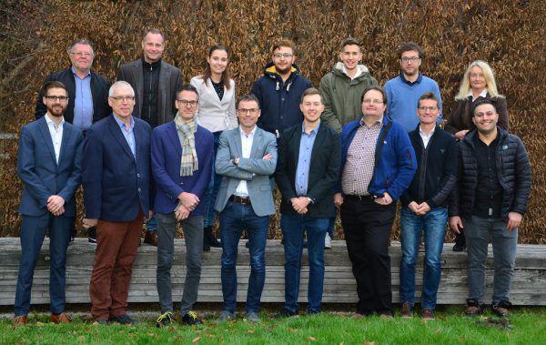 Der Bürgermeister und sein Kernteam.Werner Schnetzer