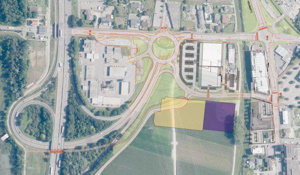 Dies sind die Pläne für die Neugestaltung bei der Autobahnanschlussstelle Hohenems.Stadt Hohenems (2)